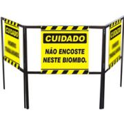 Cavalete biombo - Não encoste neste biombo