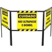 Cavalete biombo - Não ultrapasse o biombo