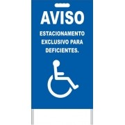 Cavalete - estacionamento exclusivo para deficientes