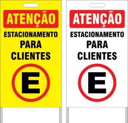 Cavalete - estacionamento para clientes