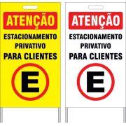 Cavalete - estacionamento privativo para clientes