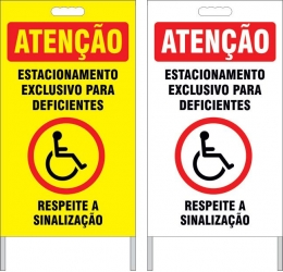 Cavalete - estacionamento exclusivo para deficientes
