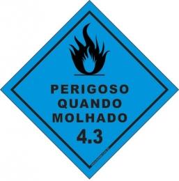 Classe 4 - Perigoso Quando Molhado 4.3