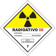 Classe 7 - Radioativo III