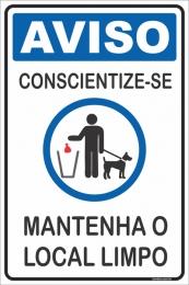 Conscientize-se - Mantenha o Local Limpo