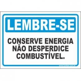 Conserve energia, não desperdice