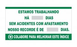 Placar Contagem de acidente CIPA com recorde