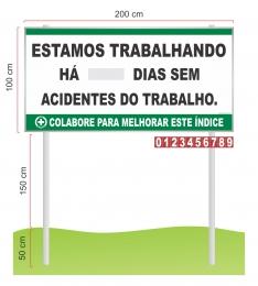Placar Contagem de acidente CIPA com pedestal