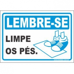 Limpe os pés