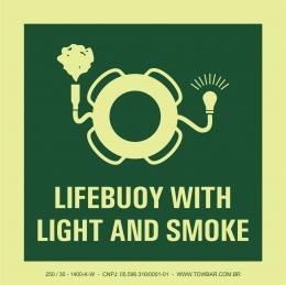 Bóia salva-vidas com dispositivo luminoso e fumaça (Lifebuoy with Light and Smoke)