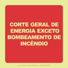 Corte Geral de Energia Exceto Bombeamento de Incêndio