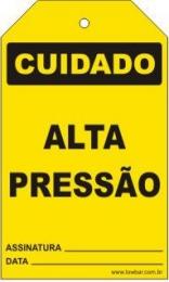 Cuidado - Alta pressão