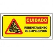 Cuidado rebentamento de explosivos