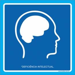Placa deficiência intelectual