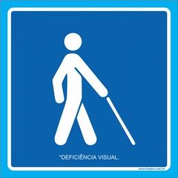Placa deficiência visual