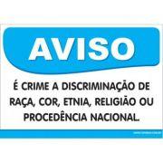 é Crime a Discriminação de Raça, Cor, Etnia,