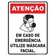 Em Caso de Emergência Utilize Máscara Facial
