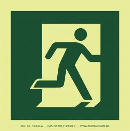 Saída de emergência à direita (Emergency Exit (right hand))