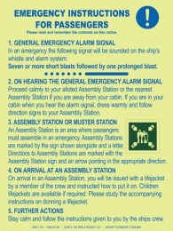 Emergency  Instructions for Passengers