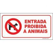 Entrada proibida a animais
