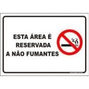 Esta área é reservada a não fumantes