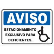 Estacionamento Exclusivo Para Deficientes