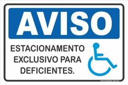 Estacionamento Exclusivo Para Deficientes
