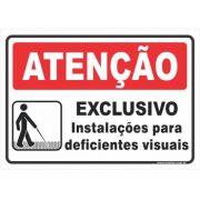 Exclusivo - Instalações Para Deficientes Visuais