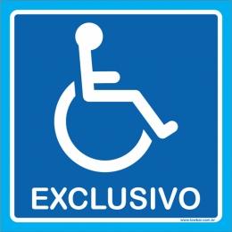Placa exclusivo para cadeirante