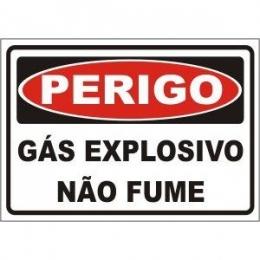 Gás explosivo não fume