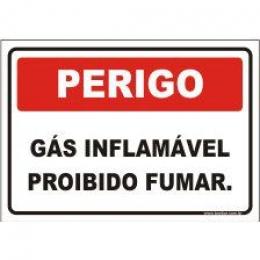 Gás inflamável proibido fumar