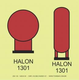 Garrafa de Halon 1301 em área protegida  (Halon 1303 Bottles In Prot.area)