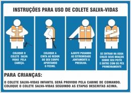 Instruções para uso de colete