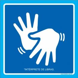 Placa intérprete de Libras