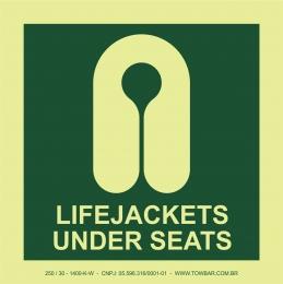 Colete salva-vidas sob os assentos (Lifejacket Under Seats)