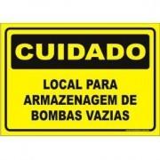 Local para armazenagem de bombas vazias