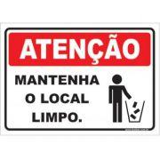 Mantenha o Local Limpo