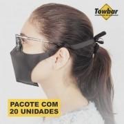Máscara de proteção reutilizável - pacote com 20 unid