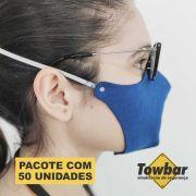 Máscara de proteção reutilizável - pacote com 50 unid