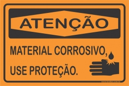 Material Corrosivo, Use Proteção