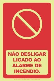 Não Desligar Ligado ao Alarme de Incêndio