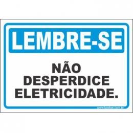 Não desperdice eletricidade