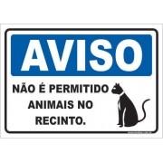 Não é Permitido Animais No Recinto