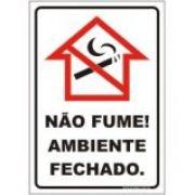 Não fume ambiente fechado