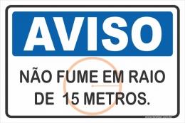 Não Fume Em Raio de 15 Metros