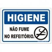 Não fume no refeitório