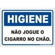 Não jogue o cigarro no chão