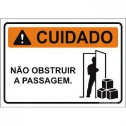 Não obstruir a passagem