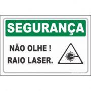 Não olhe raio laser