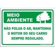 Não polua o ar, mantenha o motor do seu carro sempre regulado